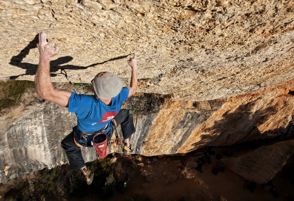 Iker Pou climbs Nit de Bruixes, 9a+ difficulty, in Margalef, Spain on January 24th
