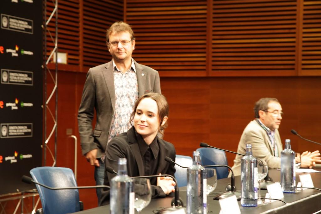 Ellen Page en la rueda de prensa