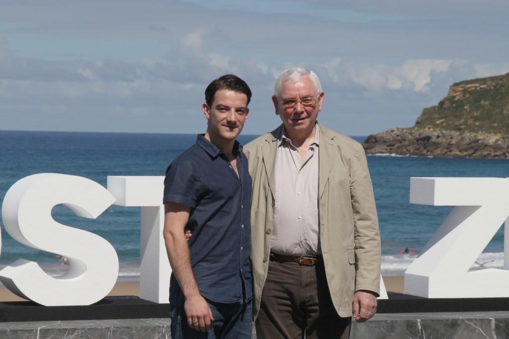 Terence Davies, director de la epopeya escocesa Sunset Song, junto al protagonisa masculino Kevin Guthrie.