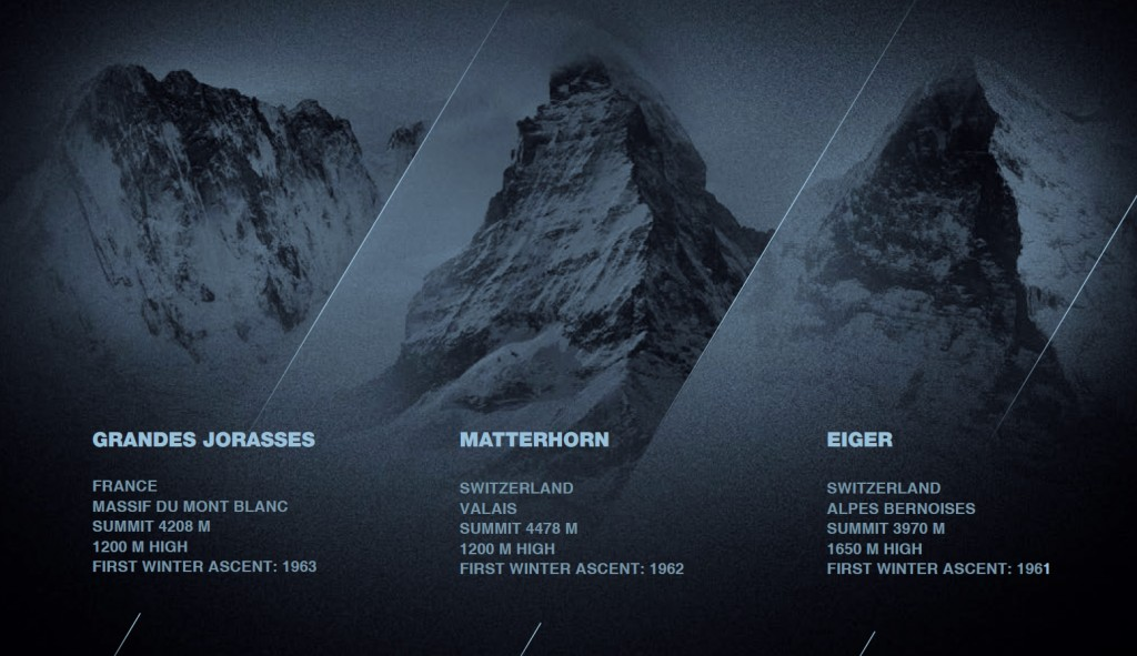 The Trilogy of North Faces in the Alps